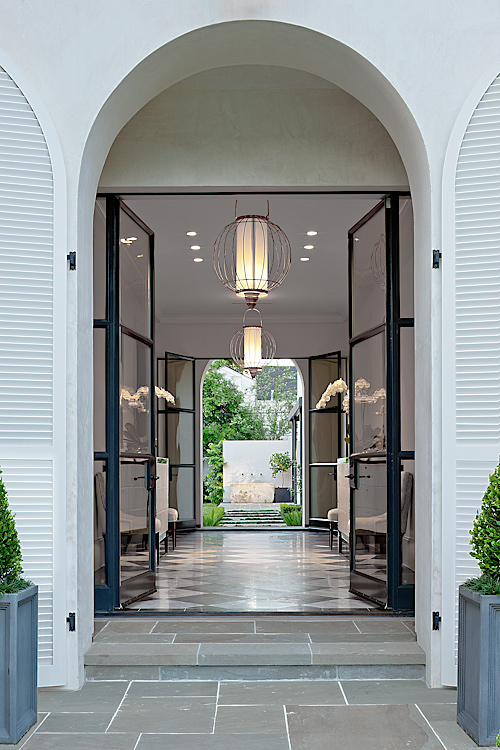 architectural photograph of residential front entry