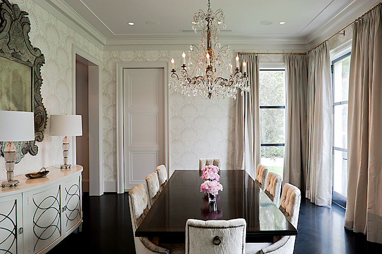 architectural photograph of formal dining room